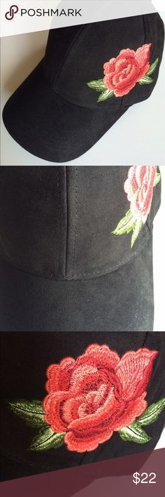 David and Young cap NWT embroidered flower Very pretty black cap/hat NWT , terrific flower embroidered ! Adjustable strap. Thanks for visiting gigishanger 😊 bundle for additional savings. David and Young Accessories Hats