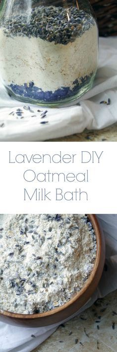 DIY Lavender Oatmeal Milk Bath to Sooth Dry Skin Naturally and Relax your Mind and Body. DIY Lavender Oatmeal Milk Bath to Sooth Dry Skin Naturally and Relax your Mind and Body. Diy Spa, Bath Tea, Milk Bath, Belleza Diy, Do It Yourself Food, Bath Recipes, Avon Products, Bath Products, Homemade Beauty Products