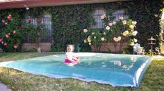 Designed for Outdoors - Official Blog: DIY Water Blob for Summer Fun with the Kids! Really easy to make Here are the supplies you'll need: A plastic drop cloth (painter's plastic, 10x20 or 10x25) Baking paper Duct tape Either a Hair Straightener or an Iron