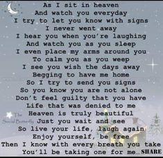 As I sit in heaven . . . .