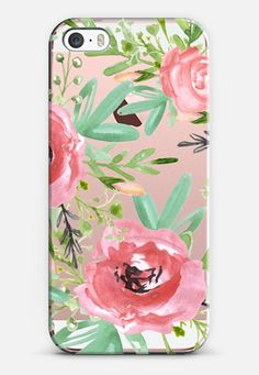 Red flowers. Watercolor iPhone SE case by Julia Badeeva | Casetify
