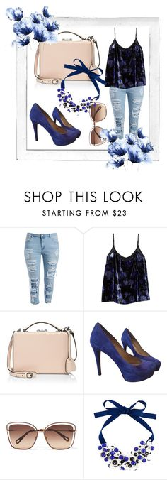 """""""blue plus size"""" by polinncharmel ❤ liked on Polyvore featuring Polaroid, Lucky Brand, Mark Cross, Diane Von Furstenberg, Chloé and P.A.R.O.S.H."""