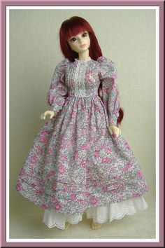 Laura Ashley style country girl dress for 1/4 BJD MSD JID