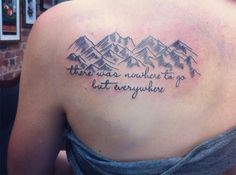 Done by Angie Fey at Archive Tattoo in Toronto, Ontario. Quote is from On The Road.