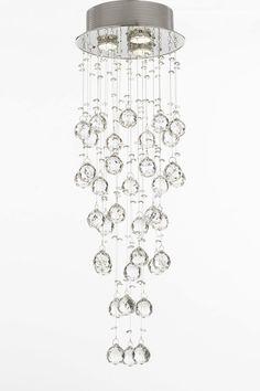 Modern Crystal Raindrop Chandelier Light Fixture on HauteLook