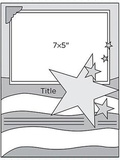 Scrapbook Page Sketch 182 - make modifications (star size!)