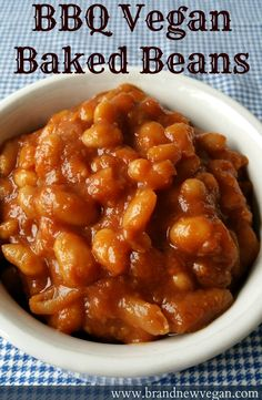 Slow cooked, BBQ Vegan Baked Beans - from scratch. It's an all day process, but oh - the flavor is out of this world. You'll be the star of the cookout. Who says Vegan's can't go to BBQs!