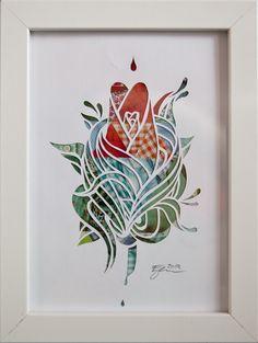 Flower Papercut  Ezra Reimer 2012