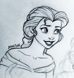 elisebrave:  More Belle doodles… This one is for a project >.< Hope she's nice enough…