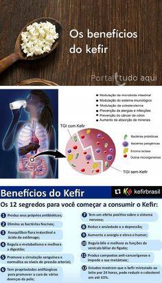 Você sabe o que é o Kefir? Entenda nessa matéria o que é e como cuidar do kefir de leite além de conhecer todos os benefícios para a sua saúde. Kombucha, Kefir Recipes, Milk Recipes, Healthy Recipes, Beneficios Do Kefir, Vegan Keto, Low Carb Diet, Health And Nutrition, Food And Drink