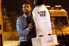 How about watching a protagonist who steal his colleague's wife's photo from the work station and masturbate to their #sexappeal? And…when it is an actor as natural as #IrrfanKhan, the show is compelling for sure! #Blackmail