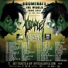 Legendary MISFITS Guitarist Doyle Wolfgang Von Frankenstein Announces Upcoming 'Abominate The World Tour 2017' – Legendary MISFITS Guitarist Doyle Wolfgang Von Frankenstein Announces Upcoming 'Abominate The World Tour 2017' Davey Suicide To Join June Run  Legendary Misfits Guitarist Doyle Wolfgang Von Frankenstein continues his... #abominatetheworldtour2017 #abominator #doyle
