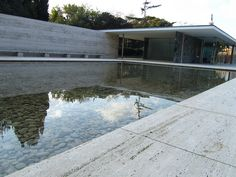 Reminiscent of the Laguna hot springs. Nice pool!    Mies van der Rohe's Barcelona Pavilion