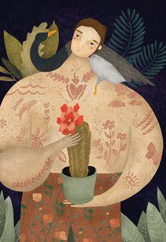 Os cenários mágicos ilustrados por Amalia Restrepo e seu fantástico traço de estilo folclórico - Follow the Colours