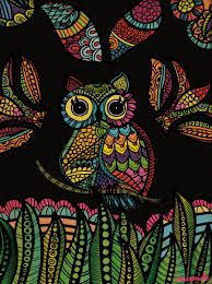 Multi-color owl  (original pin text: elefante hindu - Buscar con Google)