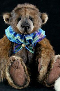 Muskrat fur bear by Lori Simon