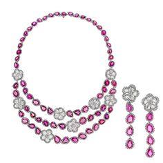 Avakian pink sapphire set
