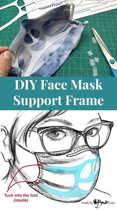 DIY Face Mask Support Frame - Made By Barb - great up-cycle for mask Easy Face Masks, Diy Face Mask, Diy Mask, Sewing Hacks, Sewing Crafts, Sewing Projects, Sewing Diy, Dress Sewing, Baby Sewing