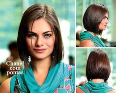 opções de cortes de cabelo.Qual escolher?