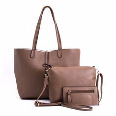 Classic Khaki Handbags (3pc-set), 51% discount @ PatPat Mom Baby Shopping App
