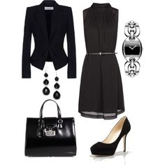 Simple and classy dress for work