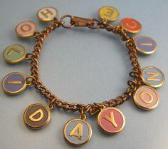 Vintage Holiday Charm Bracelet. #ApartmentTherapy