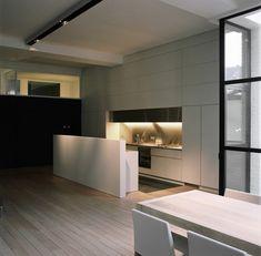 Hidden kitchen kitchens and bathroom on pinterest - Cuisine sur un pan de mur ...