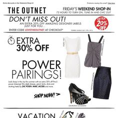 OUTNET - Extra 20% off, plus an extra 30% off power pairings