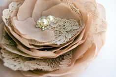 nude flower brooch