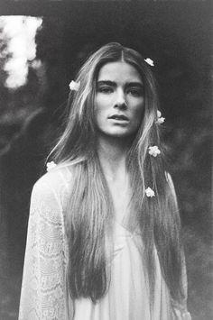 Long hair & beautiful bold brows.