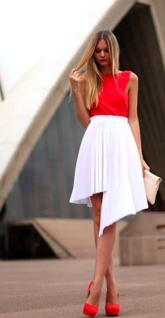 bigprojectstudio.com #style #fashion #webcam #street #look #red #white #skirt