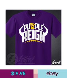 PURPLE REIGN T-Shirt Vikings Skol Chant Kings Minnesota Football Fan Jersey