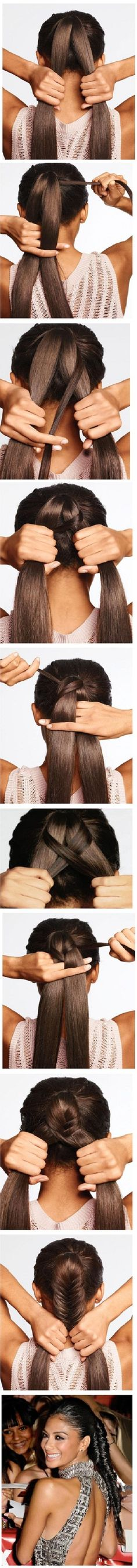 Nicole Scherzinger's fishtail braided Hairstyle