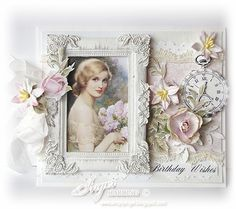 Shabby Chic Card by Inger Harding