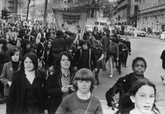 The School Strike in London: Marching to Trafalgar Square, 17th May 1972.