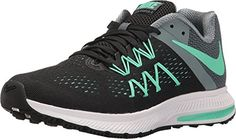 huge discount 8515e 80aa7 Nike Zoom Winflo 3 BlackHastaWhiteGreen Glow Womens Running Shoes  Click  image for more