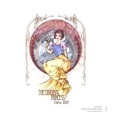 Art Nouveau Snow White- Disney Princesses
