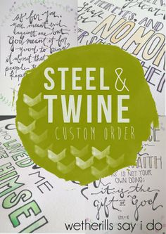 steelandtwine custom piece