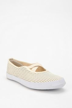 Striped Canvas Slip-On Sneaker Striped Canvas, Urban Outfitters, Vans, Slip On, My Style, Classic, Sneakers, Shopping, Shoes