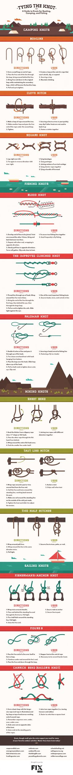 Tying the Knot A Guide to Tying Knots For Every Occasion #infographic ~ Visualistan