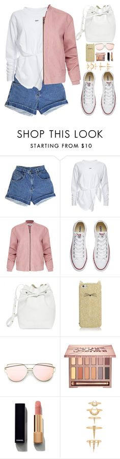 """""""Untitled #1981"""" by anarita11 ❤ liked on Polyvore featuring Helmut Lang, Converse, Mansur Gavriel, Kate Spade, Urban Decay, Chanel and Luv Aj"""