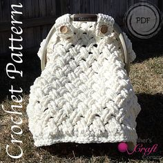 Crochet Pattern - Chunky Celtic Weave Car Seat Canopy (Photo Tutorial Included)