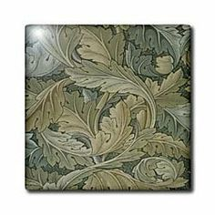 """1800s Famous Textile Pattern Acantus - 12 Inch Ceramic Tile by 3dRose. $22.99. Clean with mild detergent. High gloss finish. Dimensions: 12"""" H x 12"""" W x 1/4"""" D. Construction grade. Floor installation not recommended.. Image applied to the top surface. 1800s Famous Textile Pattern Acantus Tile is great for a backsplash, countertop or as an accent. This commercial quality construction grade tile has a high gloss finish. The image is applied to the top surface and can be cl..."""