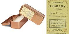 Regalos fabulosos para lectores: Vela aromática de Mark Twain