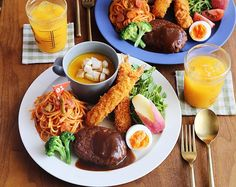 Plate Lunch, Mini Foods, Some Recipe, Cute Food, Japanese Food, Foodies, Main Dishes, Korea, Food And Drink