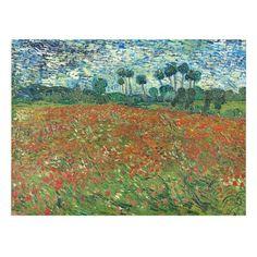 Shop Vincent Van Gogh Poppy Field Floral Vintage Art Placemat created by artfoxx. Vincent Van Gogh, Painting Prints, Canvas Prints, Oil Paintings, Red Poppies, Poppy Flowers, Sunflowers, Impressionist Artists, Dutch Painters