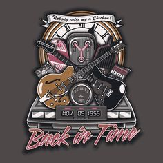 Back in Time T-Shirt Designed by Arinesart