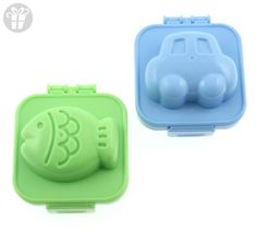 Kotobuki Plastic Egg Mold, Set of 2, Fish and Car (*Amazon Partner-Link)