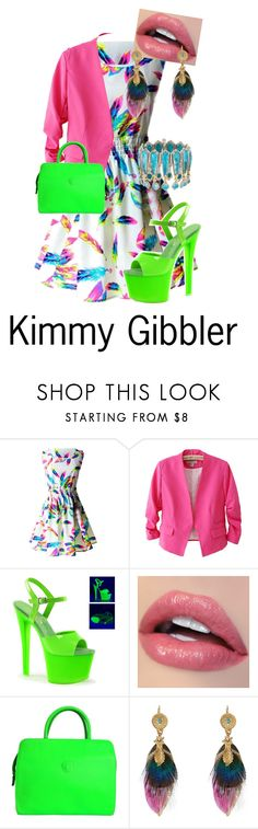 """""""Kimmy Gibbler"""" by hermioneg2003 ❤ liked on Polyvore featuring Pleaser, Versace, Gas Bijoux and Konstantino"""