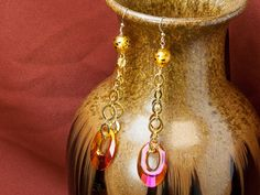 Disco Diva Earrings with instructions and list of materials